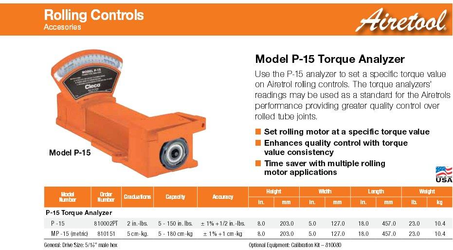 Airetool Model P-15 Torque Analyzer